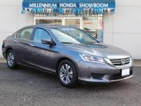 This Honda Certified Accord Sedan 4dr I4 CVT LX  has