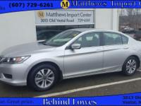 This 1 owner, accident FREE, 2014 Honda Accord LX comes