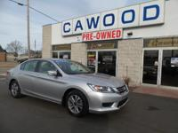 Options:  2014 Honda Accord Lx|Alabaster Silver