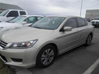 *HONDA CERTIFIED!*. Accord LX. Talk about a deal! When