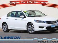 CARFAX 1-Owner. FUEL EFFICIENT 36 MPG Hwy/27 MPG City!
