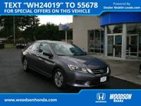 Honda Certified, 1 Owner, Clean Carfax. Cruise control,