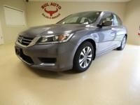 This is a very rare 2014 Honda Accord LX Sedan CVT. Are