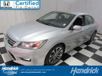 This Honda Accord Sedan is Certified Preowned! Value
