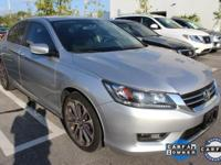 ONE-OWNER, CLEAN CARFAX, and HONDA CERTIFIED. Accord