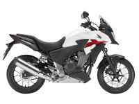 Ergonomically the CB500X gives you broad handlebars and