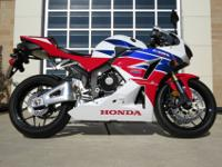 -2014 Honda CBR600RR-Mileage: 1,713-Engine: 599cc