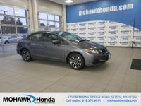 This 2014 Honda Civic EX in Modern Steel Metallic
