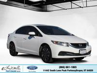 Scores 39 Highway MPG and 30 City MPG! This Honda Civic