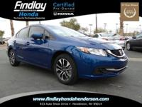 EX trim. Honda Certified, Excellent Condition, CARFAX