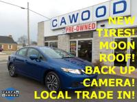 Options:  2014 Honda Civic Ex|Blue|New Tires!|Honda
