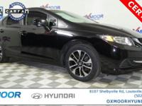 New Price! Honda Civic EX CARFAX One-Owner. MOTOR TREND