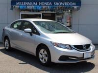 This Honda Certified Civic Sedan 4dr CVT EX  is a New