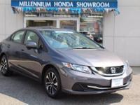 This Honda Certified Civic Sedan 4dr CVT EX  is a New