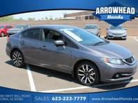 Gray w/Leather Seat Trim. Honda Certified! Gasoline! Is