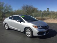 Civic LX, 2D Coupe, 1.8L, CVT, FWD. Backup Camera,