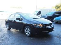 2014 Honda Civic LX New Price! CARFAX One-Owner. Cloth,