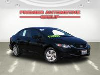 CARFAX One Owner. Crystal Black Pearl 2014 Honda Civic