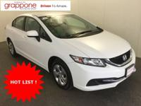 Clean One-Owner Autocheck! NEW TIRES! This 2014 Civic