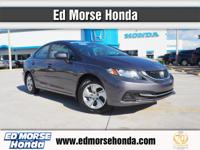 This 2014 Honda Civic Sedan LX is proudly offered by Ed