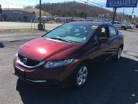 Civic LX, Honda Certified, 4D Sedan, 1.8L I4 SOHC 16V