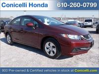 This 2014 Honda Civic Sedan LX is priced to sell. A ton