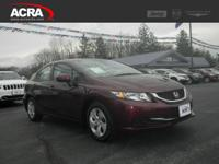 2014 Honda Civic Sedan, key features include:  Fog