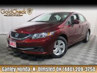 2014 Honda Civic LX CLEAN CARFAX ONE OWNER, AUTOMATIC,