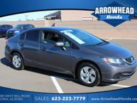 Gray w/Cloth Seat Trim. Honda Certified! Hold on to