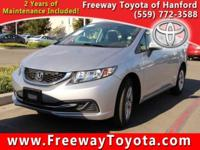 CARFAX One-Owner. Silver 2014 Honda Civic LX FWD CVT