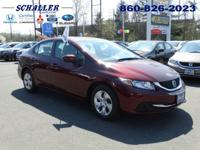 ONE OWNER, CLEAN CARFAX, and HONDA CERTIFIED. Civic LX,