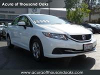 Options:  2014 Honda Civic Sedan Lx|White/|V4 1.8 L