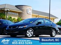 2014 Honda Civic in Black. Kept in check by the