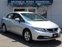 This Honda Certified Civic Sedan 4dr CVT LX is a New