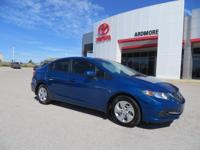 Cloth. New Price! 2014 Honda Civic LX CARFAX One-Owner.