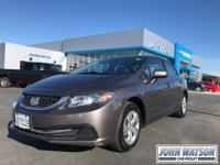 This 2014 Honda Civic Sedan LX is offered to you for