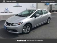 EPA 39 MPG Hwy/30 MPG City! CARFAX 1-Owner, ONLY 33,554
