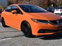Orange Fire Pearl exterior and Black/Red interior, Si