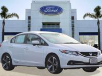 Options:  2014 Honda Civic Sedan Si|White/|V4 2.4 L