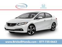 Brickell Honda is pleased to offer this Beautiful 2014