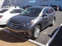 Clean CARFAX. 2014 Honda CR-V EX Polished Metal AWD