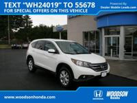 2014 CR-V EX Honda Certified, AWD, Back-Up Camera, Fog