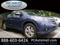 CARFAX One-Owner. Blue 2014 Honda CR-V EX FWD 5-Speed