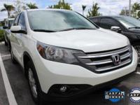 CR-V EX, Honda Certified, and White Diamond Pearl. Low