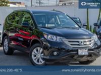 Clean CARFAX. Black 2014 Honda CR-V EX-L FWD 5-Speed