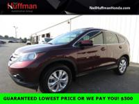 Maroon 2014 Honda CR-V EX-L FWD 5-Speed Automatic 2.4L