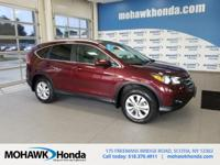 Recent Arrival! This 2014 Honda CR-V EX-L in Basque Red