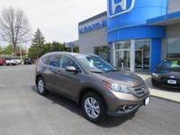 Honda Certified-CR-V EX-L AWD, Sunroof, Leather, Fog