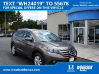 Honda Certified 2014 CR-V EX-L AWD, Leather, Sunroof,