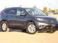 Clean CARFAX. Gray 2014 Honda CR-V EX-L FWD 5-Speed